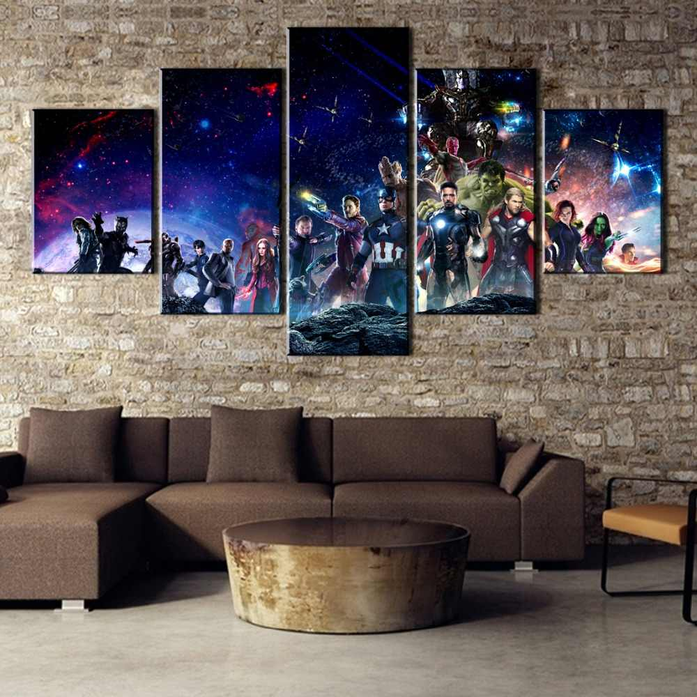 5 Pieces HD Print Avengers Infinity War Movie Cuadros Decoracion Paintings on Canvas Wall Art for Home Decorations Wall Decor