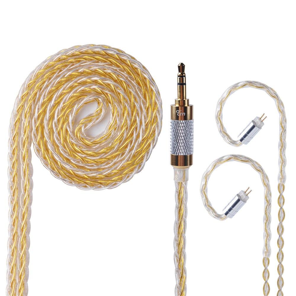 Más TRN de cobre y plata mixto actualizado Cable 2,5/3,5mm equilibrado Cable con MMCX/2pin conector para TRN v80 v20 v10