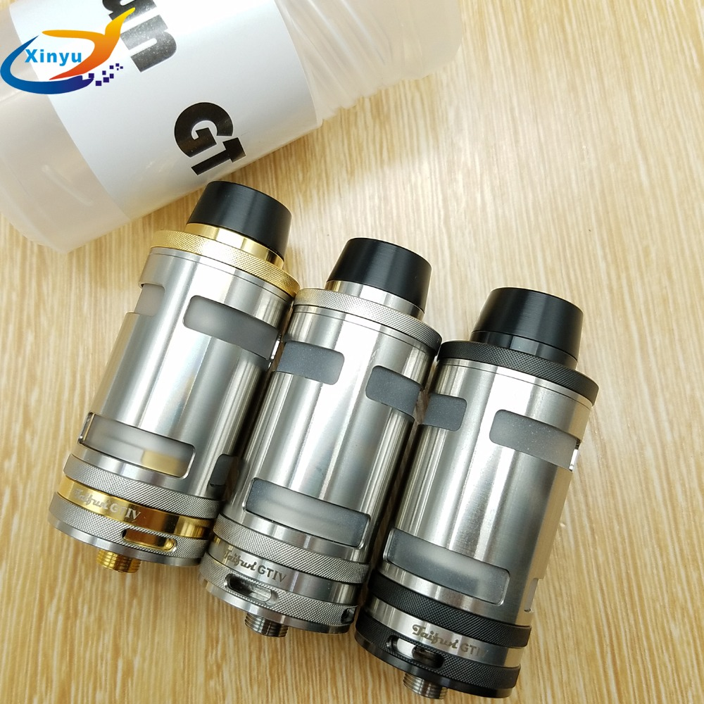 Taifun GT4 RTA 316 stainless steel 25MM diameter atomizer 5ml atomizer E Cigarette SS Black Gold Tank Fits 510 thread Box Mods