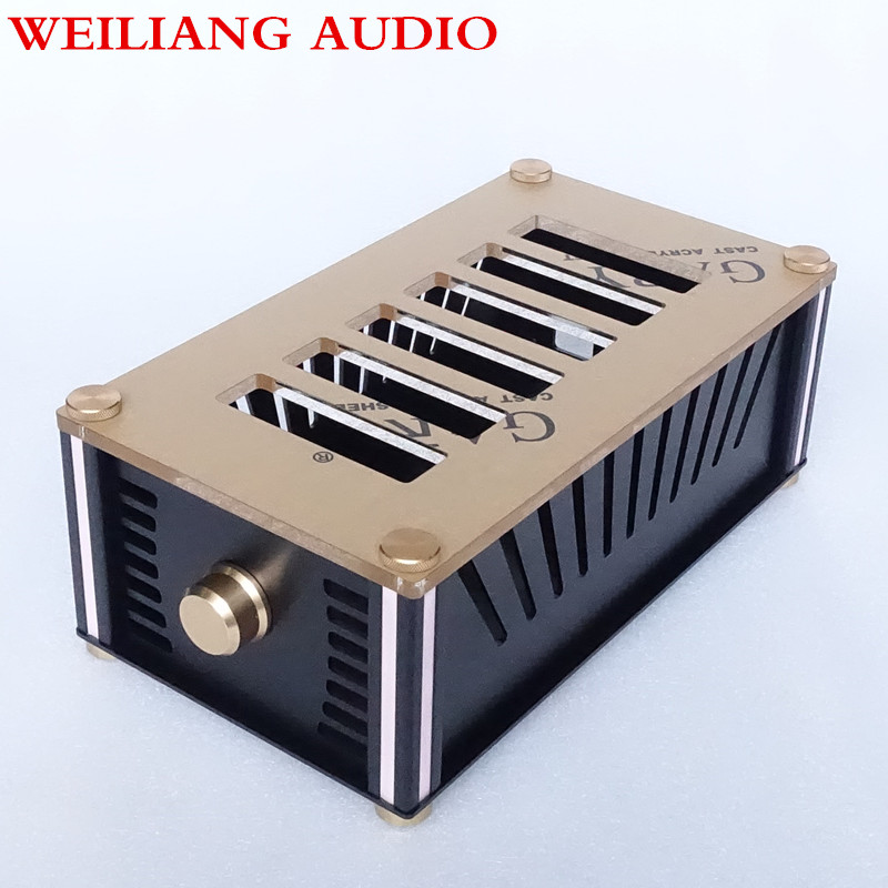 WeiLiang Audio aluminum case /handphone amplifier case/electronic valve case BZ2012RKV queenway audio bz2012rkv aluminium amplifier chassis multi amplifier case 202mm 143mm 362mm 202 143 362mm