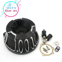 Motorcycle Parts CNC Crafts Air Cleaner Intake Filter Fit For Harley Road King Gliding 01 07 Softtail Dyna 96 15