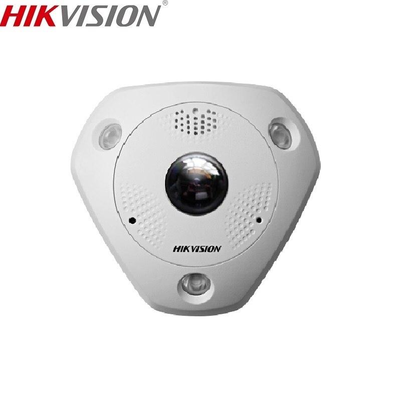 HIKVISION DS DS-2CD63C2F-IVS Versione Cinese 12MP Fisheye View IP di Sostegno Della Macchina Fotografica Microfono Esterno ONVIF SD Card PoE IR
