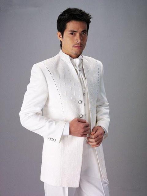 2016 новое поступление на заказ свадьба смокинги мужские жениха жених смокинги ( куртка + брюки + жилет + галстук )