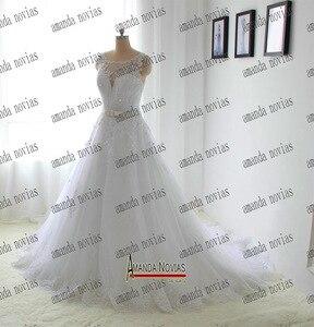 Image 3 - 아만다 novias 2017 실제 사진 웨딩 드레스 신부 드레스