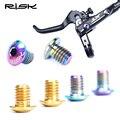 RISK TC4 титана велосипед Гидравлический тормозной цилиндр болты для SHIMANO DEORE/XT M8000/SLX M7000 2/4 шт. Велосипедный тормозной цилиндр винт