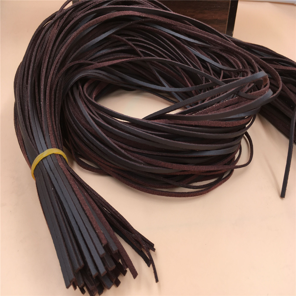 3 мм x 1 м Лот DIY кожа бархат вязаный материал веревки браслет кофе коричневого цвета