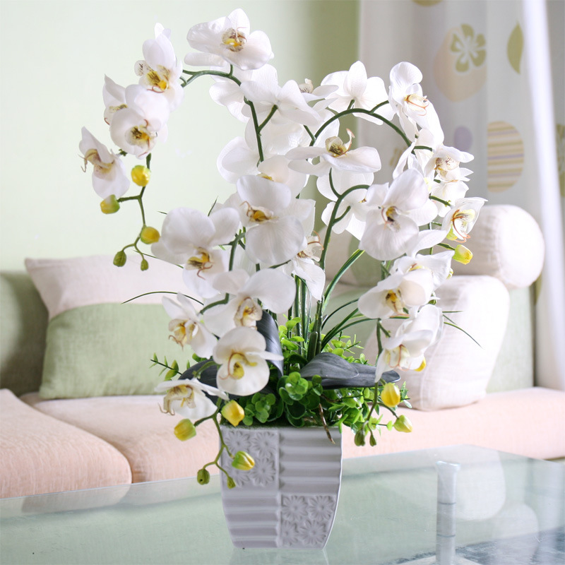 Fashion Orchid Artificial Flowers Bouquet For Wedding And Home Decoration 4