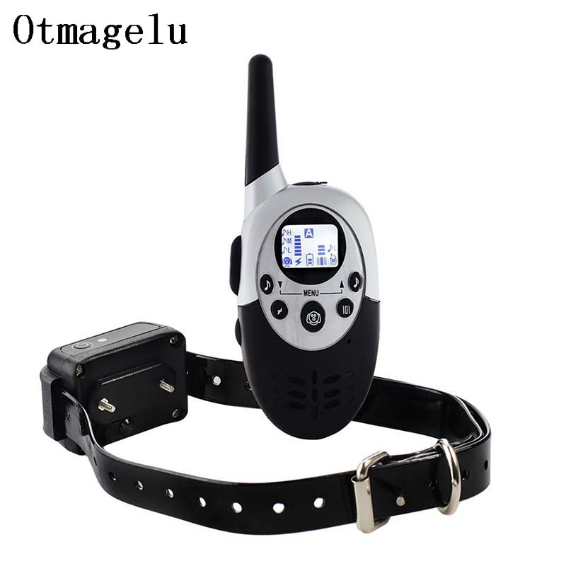 1000m Rechargeable Electronic Pet Dog Training Collar With LCD Display for Dog Stop Barking Collars Behavioral Training Collars