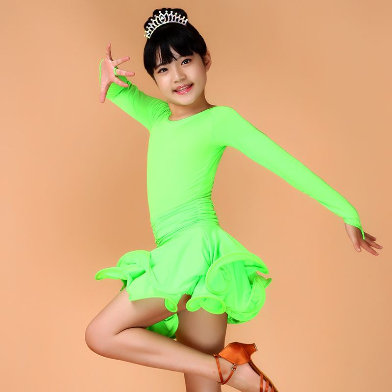 sexy latin dance dresses competition dress for girls kids child kid costumes ballroom dancing dresses children red  cha cha wear