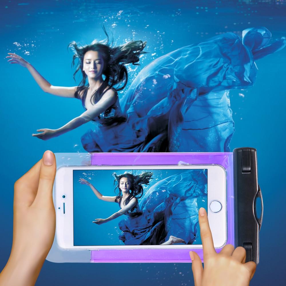100% sellado a prueba de agua bolsa bolsa del teléfono case para apple iphone 6