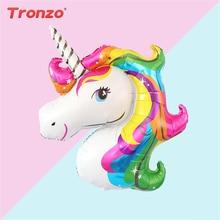 Tronzo 1PCS Unicorn Balloons Birthday Party Decorations kids Large Foil Birthday Balloon Wedding Decor Baby Shower Supplies