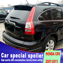 Top configuration for honda CRV 2007 to 2011 spoiler Air acceleration high quality ABS black white primer color spoilers