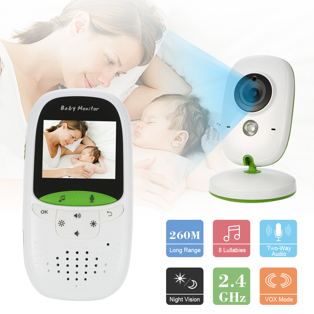 babykam babyphone camera video baby monitor 2.0 inch IR Night Vision Temperature Sensor Lullaby Intercom baby phone camera nanny