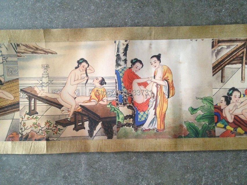 Free Shipping Old Japanese Ancient Erotic Arts Erotic Nude -1817
