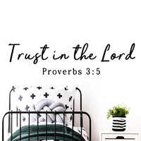 Funny trust in the lord Wall Decal Living Room Removable Mural For Kids Rooms Decoration Wall Art MURAL Drop Shipping