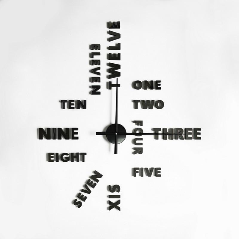 <font><b>Large</b></font> Numbers 3D <font><b>Wall</b></font> <font><b>Clock</b></font> Big Size <font><b>DIY</b></font> <font><b>Quartz</b></font> <font><b>Wall</b></font> <font><b>Clock</b></font> Mirror Stickers Living Room Decor Horloge Watch