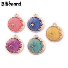 Floating Charms Enamel Charms for DIY Jewelry Making Accessories Zinc Alloy Starry Sky 21x26mm 10pcs/bag charms for jewelry making floating charms enamel charms zinc alloy sun moon