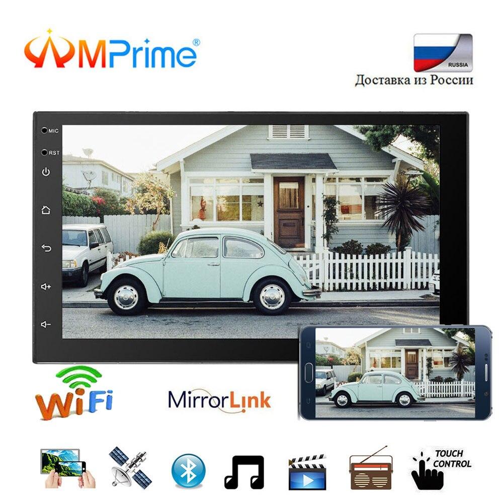 AMPrime 2 din Автомобильный Радио Android gps навигация Авторадио MP5 плеер 7 Универсальный Авто Радио Bluetooth Зеркало Ссылка RDS Wifi DAB +