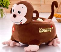 big plush brown monkey sofa toy cartoon monkey design floor seat tatami doll about 50x45cm s1974