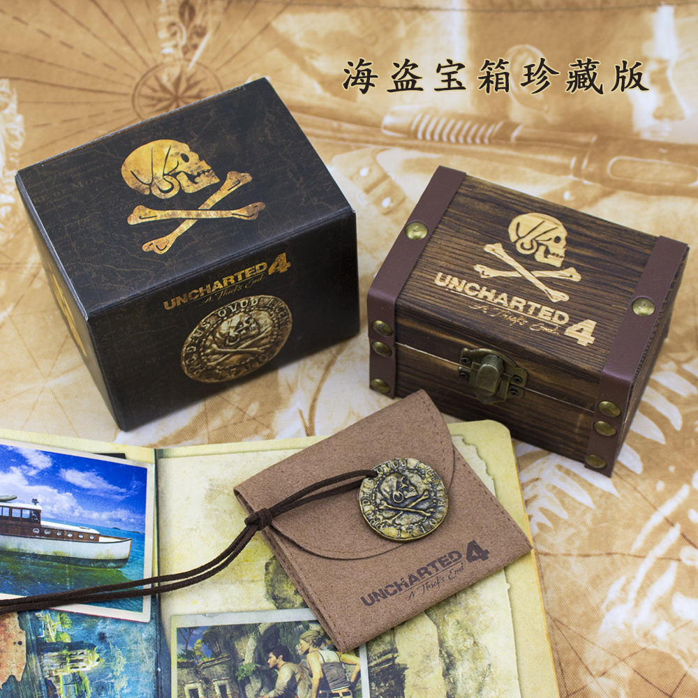 Ps4 Uncharted 4 A Thief's End Pirate Gold Coin Necklace Nathan Drake Last Adventure Skull Coin Collect Edition все цены
