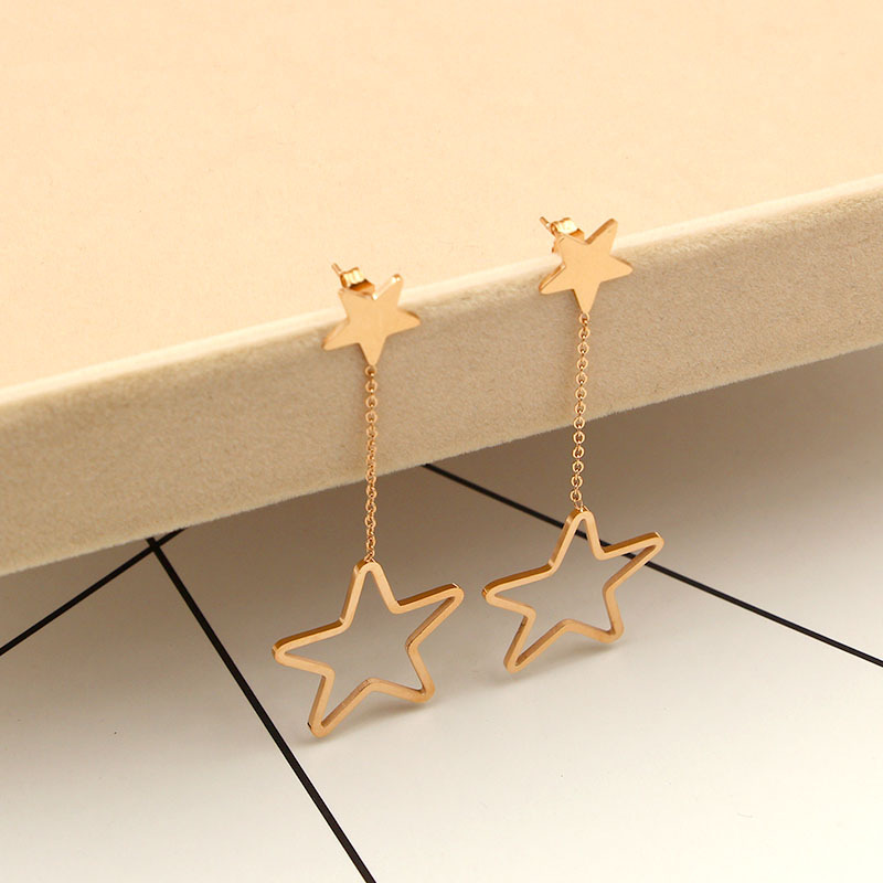 Europe&the United States hollow five-pointed star long earrings,unice exaggerating earrings meus pedidos aliexpress Ornaments ...