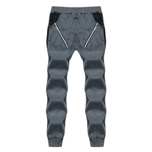 NEW 2019 Spring Summer wear mens zipper pocket stitching tether harem casual joggers sweatpants beam foot trousers men