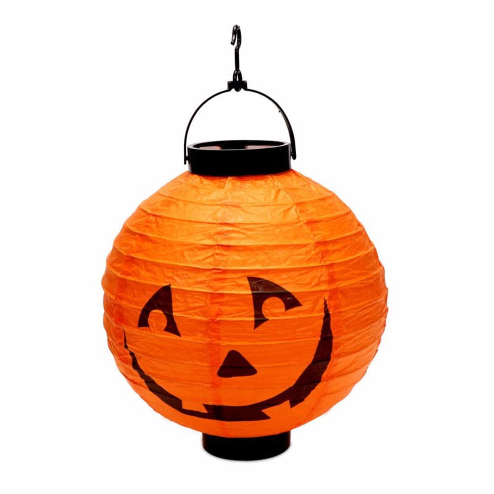 1*halloween Led Paper Pumpkin Lantern Spider Bat Hanging Light Party Decor Gifts Party Diy Decorations