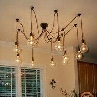 Чердак античный ретро Паук лампы Ретро паук подвесной светильник классический декоративный Лофт светильники кантри Эдисон подвесной свет
