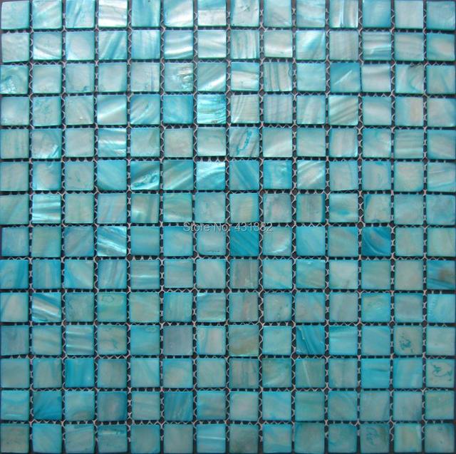 Free Shipping Shell Mosaic Tiles Blue Mother Of Pearl Kitchen Backsplash Bathroom