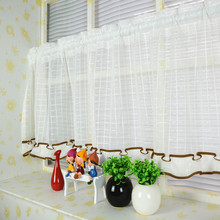 Sheer the Curtains in the Kitchen Cafe Cortinas Window Door Tulle for Kitchen Short Curtain Coffee