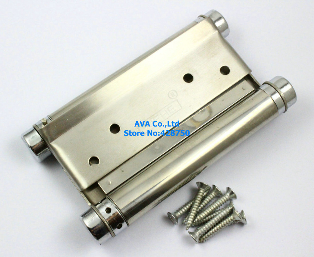 2 Pieces 5 Double Action Spring Hinge Saloon Cafe Door Hinge Swing Western Door 8 inch stainless steel double action concealed door silver spring hinges for saloon cafe door shop swing door 2pcs