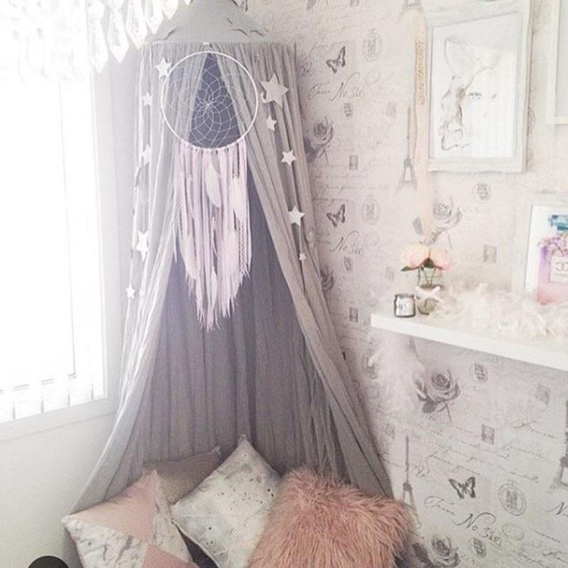 Tente jouet pour enfant Princesse Tente Pour Enfants Bébé Garçons Filles Maison Parc Intérieur Infantile Chambre Dôme Hamac rideau de lit Tente 240 cm
