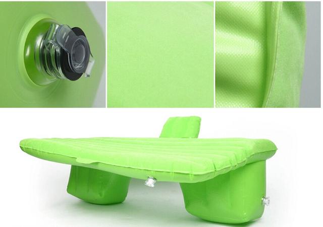 Espesar Durable de PVC Viajes en Coche cama Inflable Colchoneta de Camping colchón de aire con Bomba de Aire Del Automóvil