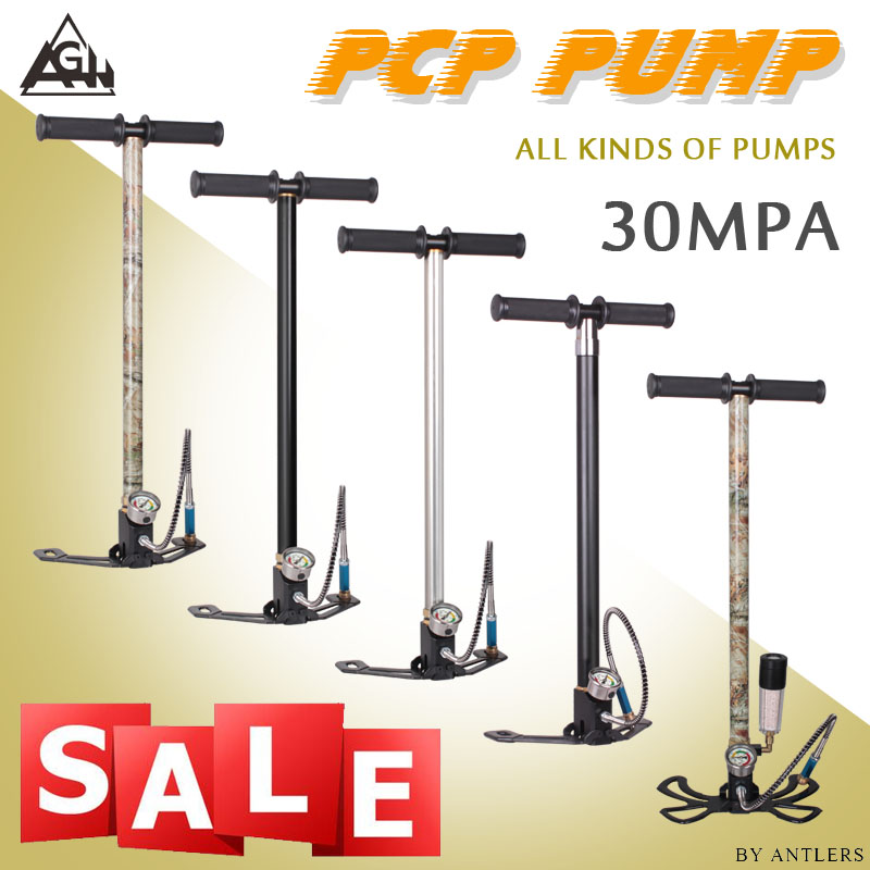 New 30Mpa 4500psi High pressure Air PCP Pump Air Rifle Paintball hand pump with filter Mini Compressor not hill pump in Pumps from Home Improvement