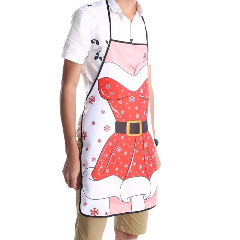 Cooking Kitchen Aprons Santa Claus Unisex Aprons Kitchen Cleaning ...