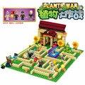Plants vs zombies jardín laberinto golpeó juego bloques de construcción juguetes de los ladrillos como lepin figuras mi mundo minecraft