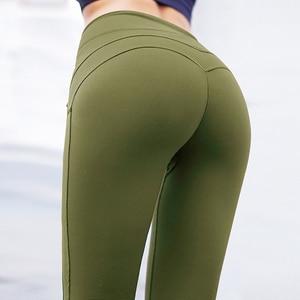 Image 4 - Normov leggings de fitness mulheres de cintura alta workout push up leggins calças femininas casuais mujer retalhos leggings mais tamanho feminino
