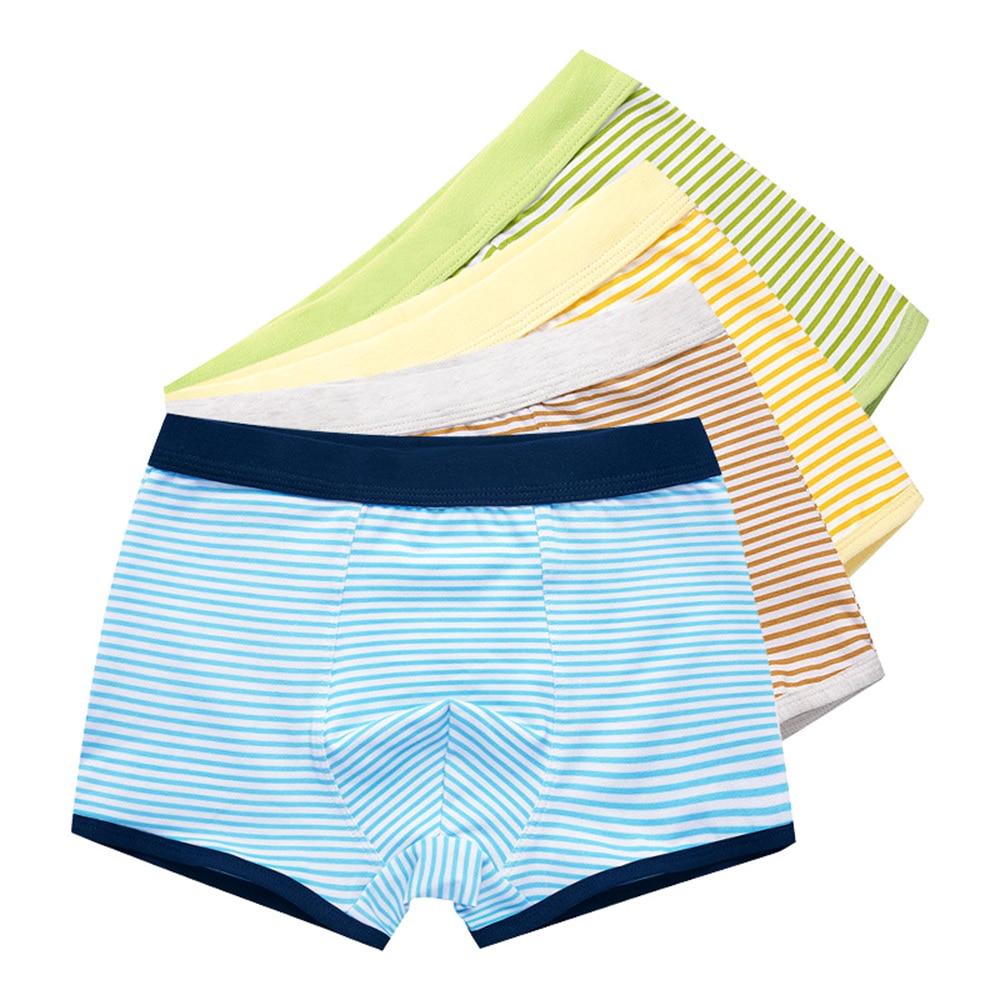 4 Pcs/lot Pure Color Kids Boys Girls Underwear Shorts Panties Soft Cotton Baby Boxer Children's Teenager Underwear 2-16y 1