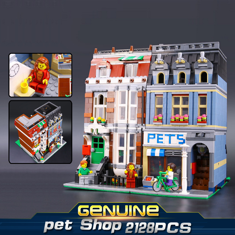 LEPIN 15009 2082PCS City Street Pet Shop Model Building Block Set Bricks Kits Compatible legoed 10218 lepin 15009 city street pet shop model building kid blocks bricks assembling toys compatible 10218 educational toy funny gift