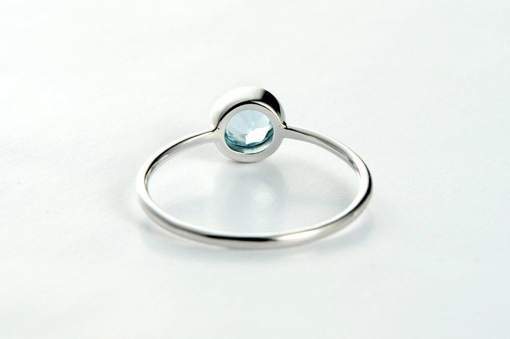 f4767eed3d3e FAHMI Topacio anillo de compromiso boda 925 anillos de plata esterlina para  mujer banda anillos de