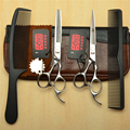 4Pcs Suit 5.5''/6.0''/6.5'' H1006 Japan Kasho Cutting Combs + Scissors + Thinning Shears Professional Hair Hairdressing Scissors