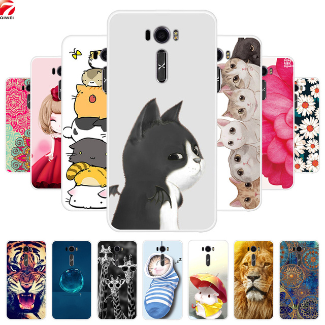 reputable site 2beee c43fb US $1.89 5% OFF|For Asus Zenfone 2 Laser ZE601KL Case ZE600KL Printing Soft  TPU Back Cover For Asus Z011d ze600kl ze610kl Silicon Phone Cases-in ...