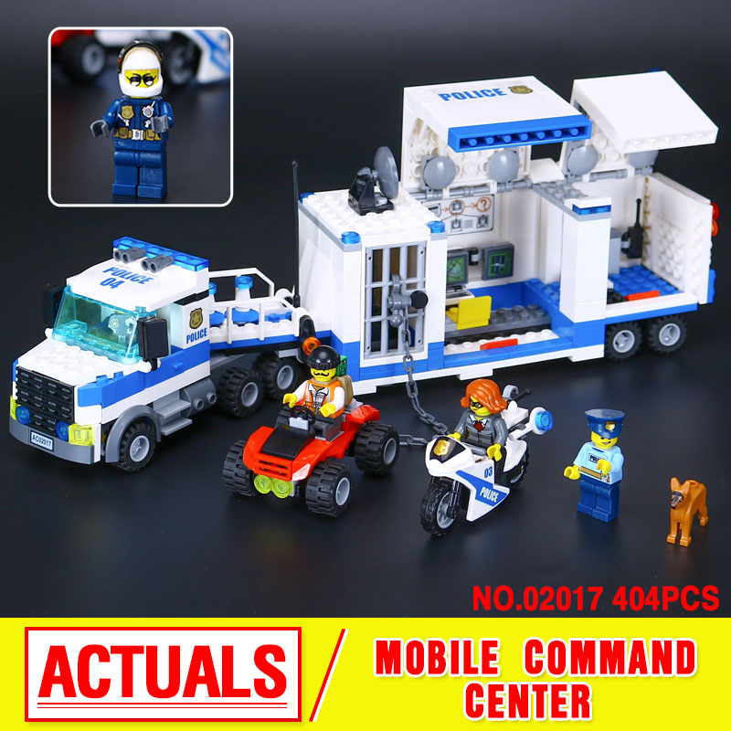 ФОТО Lepin 02017 374Pcs City Policemen Series The Moving Command Car Set Children Educational Building Blocks Bricks Toys Model 6013