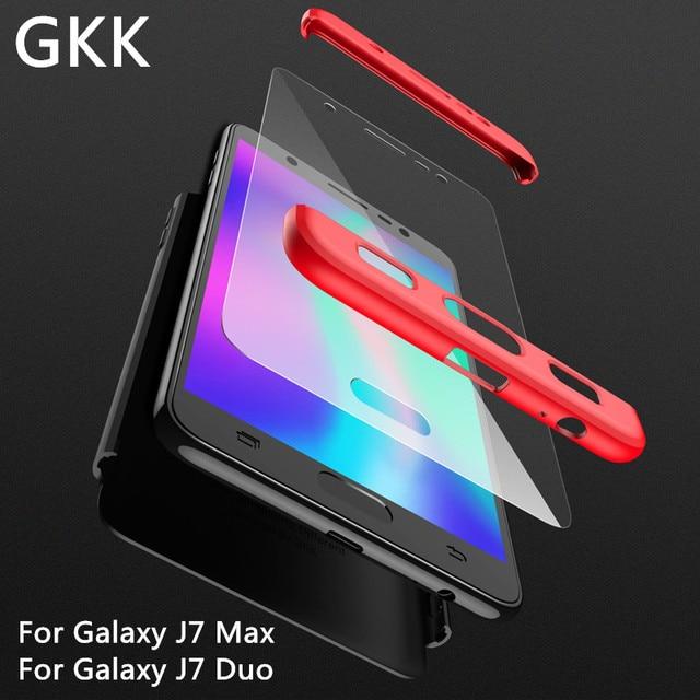 685e55763e6 GKK 3 in 1 Case for Samsung Galaxy J7 Max J7 Duo Full Coverage Matte Phone  Cover Fuda Anti-knock