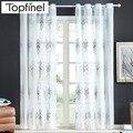 Topfinel новинки роскошные вышитые тюль на окна Занавески для кухни гостиной спальни  Современный еврапейский стиль
