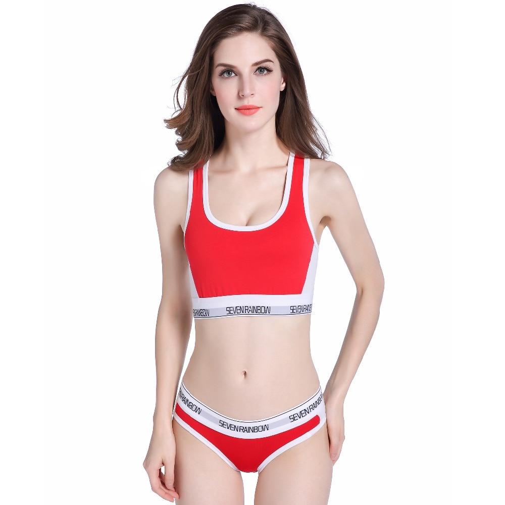 women's underwear boxers   bra     set   cotton comfortable Vest intimates Seamless Sexy Women casual bralette Stretch   Briefs     Bras