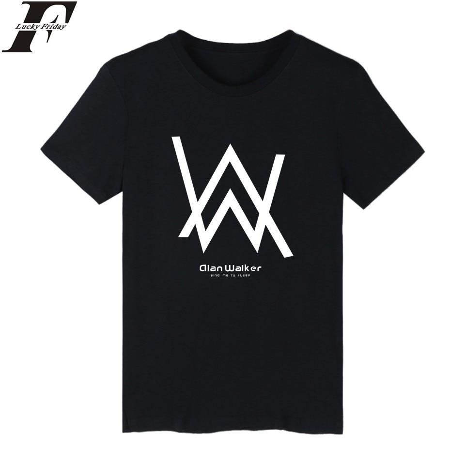 LUCKYFRIDAYF Precio al por mayor de Alan Walker Camiseta Hombre Negro - Ropa de hombre