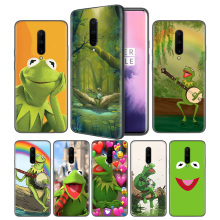 KERMIT THE FROG Soft Black Silicone Case Cover for OnePlus 6 6T 7 Pro 5G Ultra-thin TPU Phone Back Protective