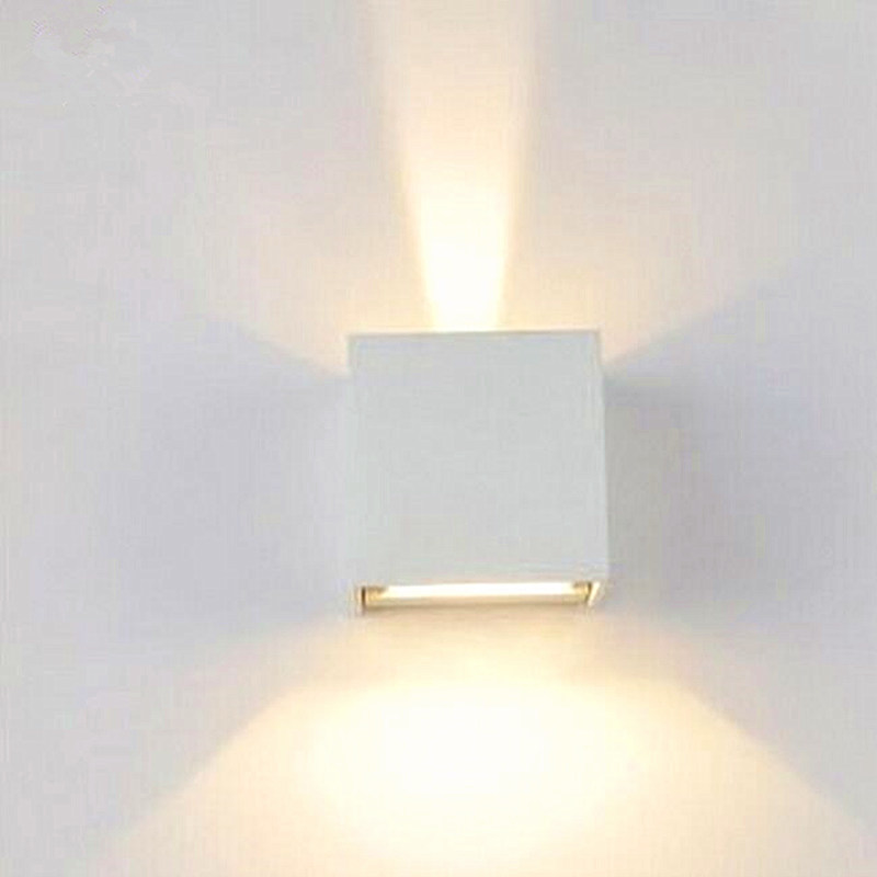 New Led Wall Lamp Outdoor Light 6w 90 260v White Aluminum Up Down Waterproof For Bathroom Kitchen Z0004 In Indoor Lamps From