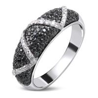 Đẹp Bangle Nhẫn vàng Trắng màu Cubic zirconia đen và trắng CZ Nhẫn mới nhất thiết kế thời trang mới jewelry Vận chuyển Miễn phí